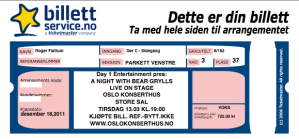Bear Grylls Live On Stage