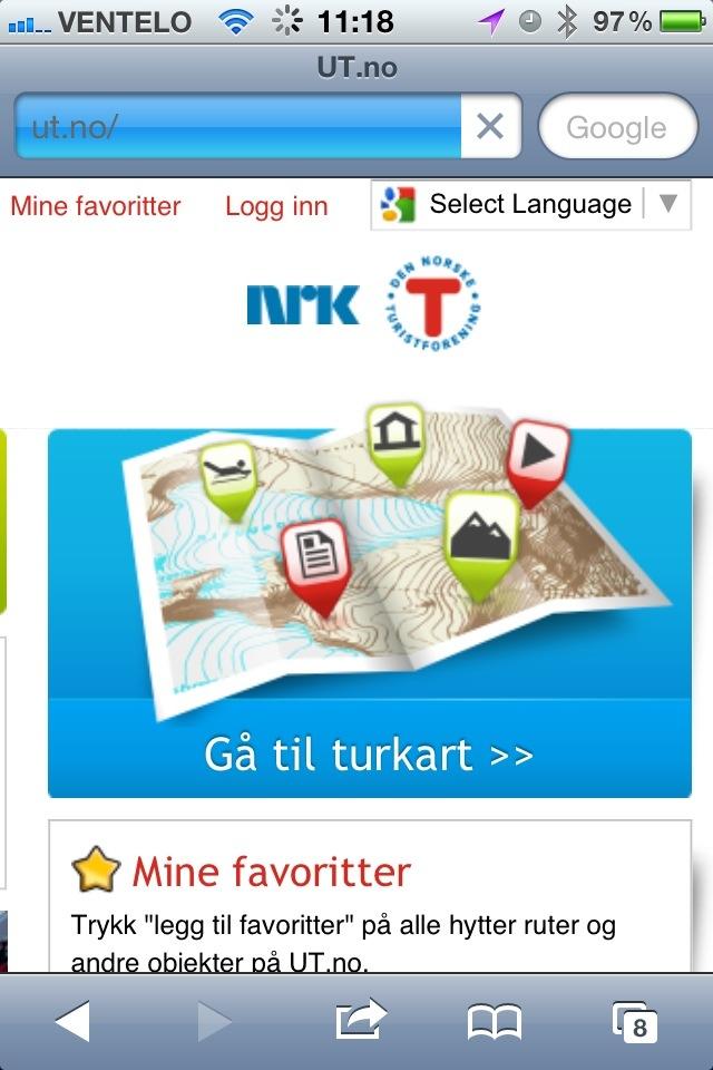 turplanlegger kart Turplanlegger med topografisk kart   Villmænn turplanlegger kart